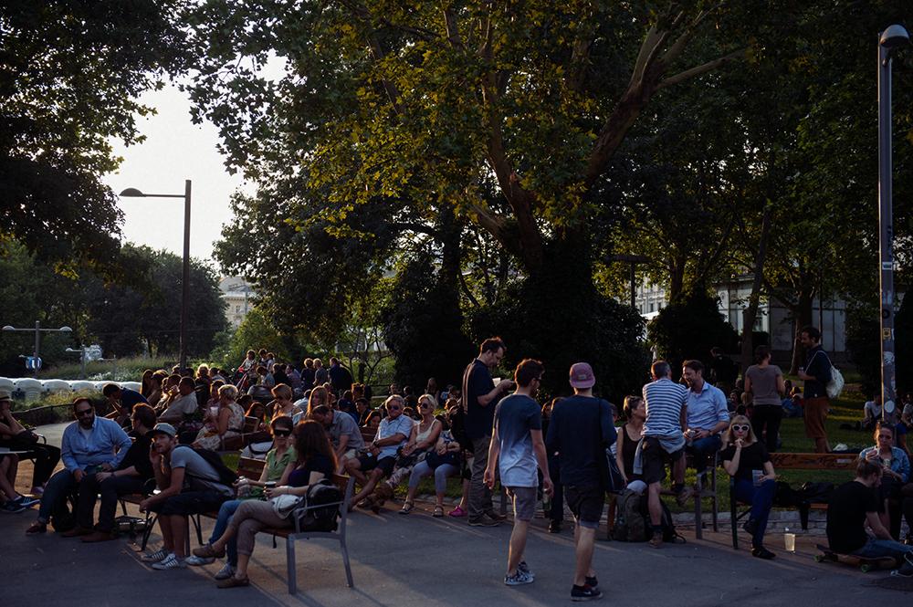 karlsplatz, vienna, austria, popfest, open air concert, music