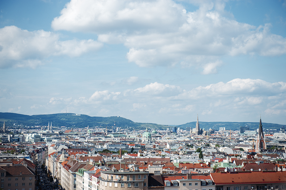 bahnorama, Hauptbahnhof, railway station, vienna, austria, view, city