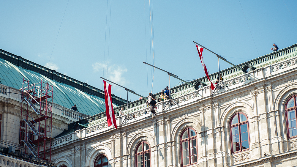 vienna, opera, movie, shooting, stunt, test, vienna, austria, mission impossible