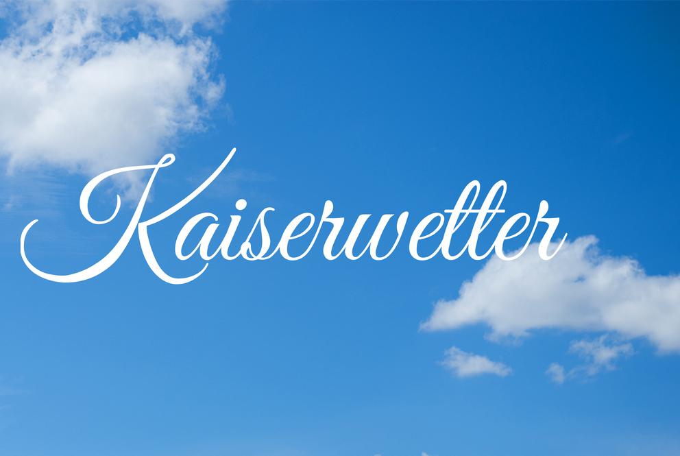 kaiserwetter, blue, sky, weather