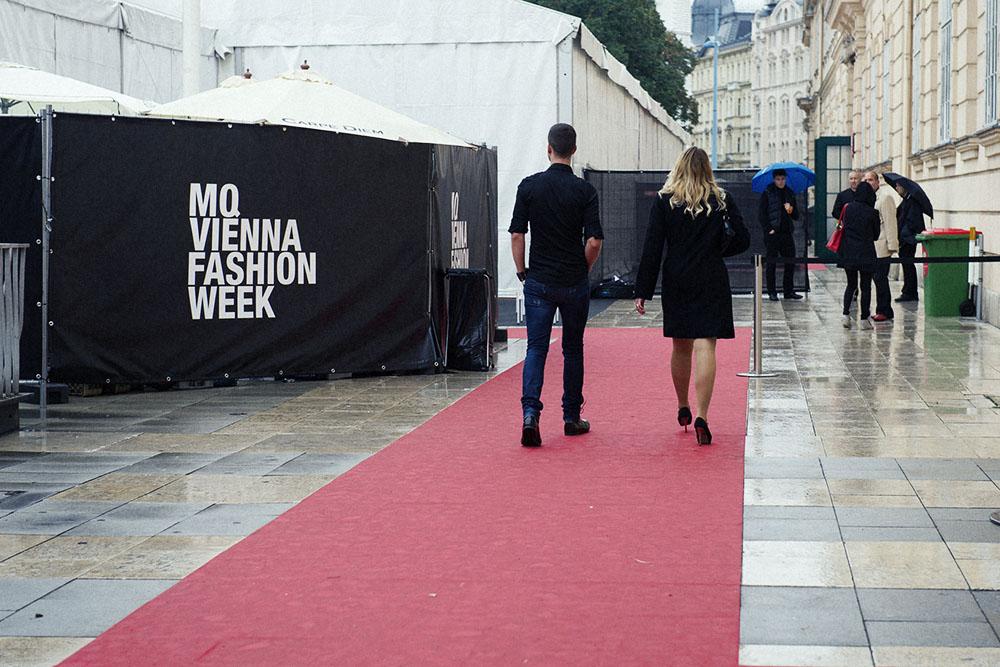 mq, fashion week, museumsquartiert, rain, vienna