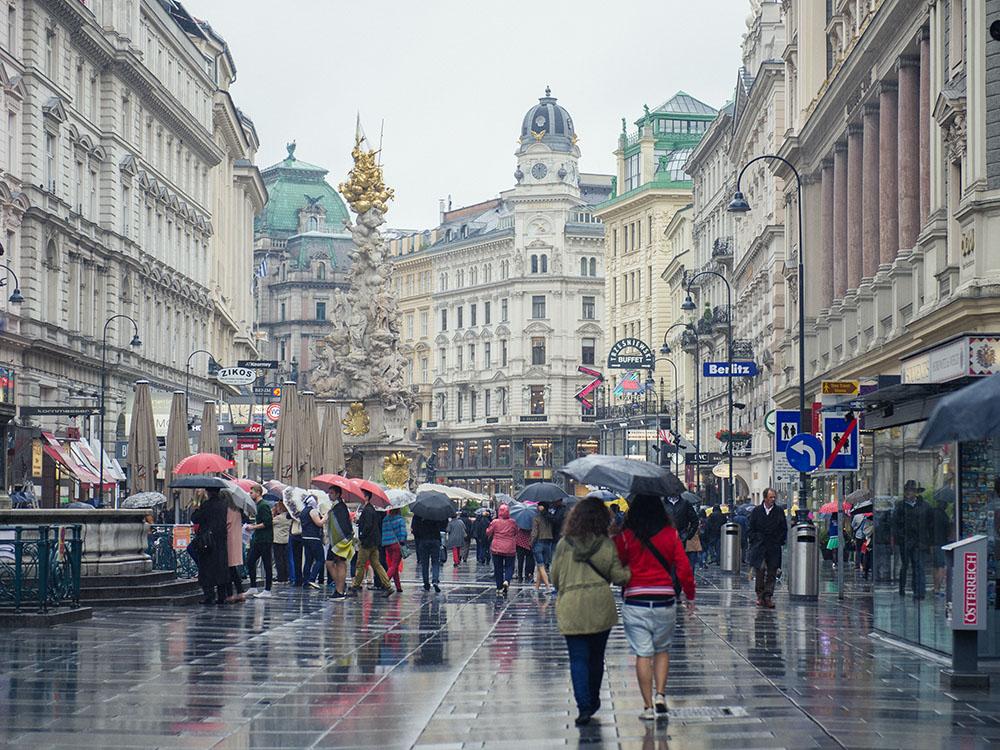 rain, vienna, autumn, grey