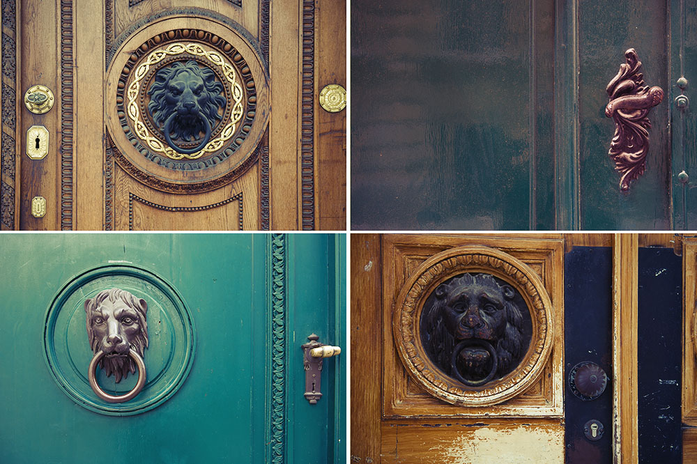 door, details, lions, vienna, green, brown