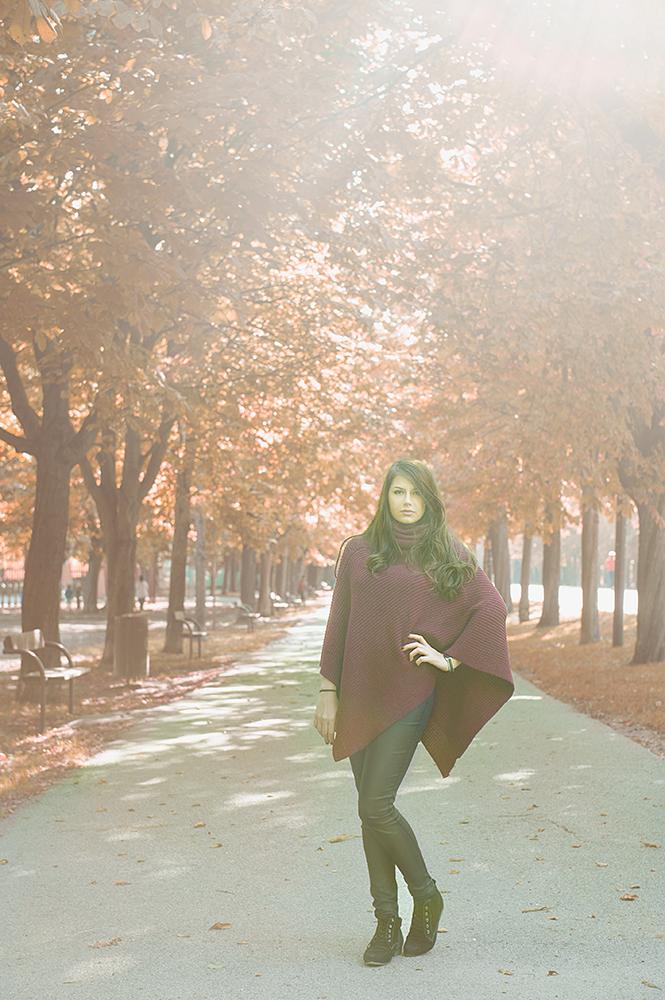 autumn, prater, tina, red, yellow