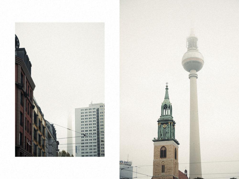 alexanderplatz, fernsehturm, alex, berlin, fog, autumn