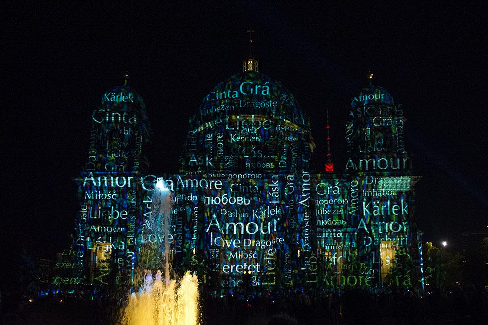 berlin, festival of lights, love, germany, dark, night, berliner dom