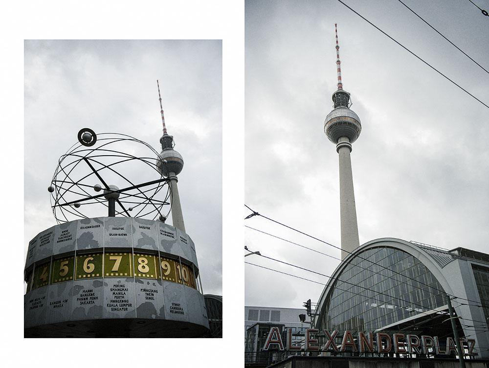 berlin, alexanderplatz, weltzeituhr, atom, autumn, clouds, dark