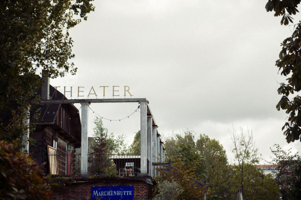 berlin, monbijou park, mitte, autumn, theater