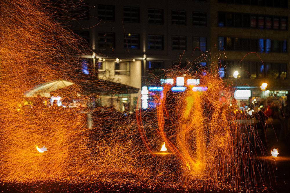 berlin, festival of lights, dark, night, event, autumn, gendarmenmarkt