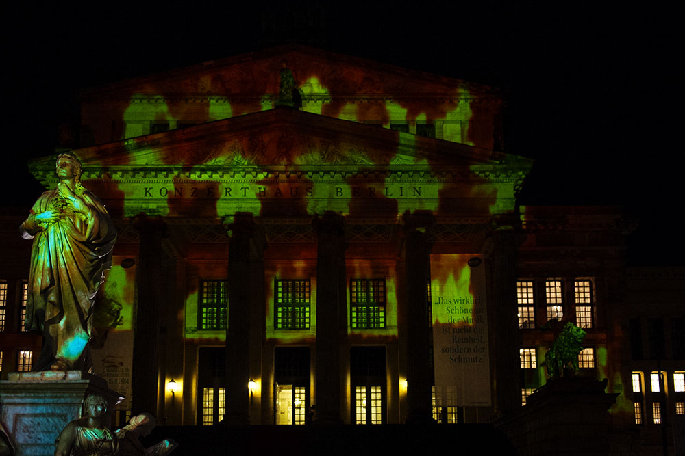 berlin, festival of lights, dark, night, event, autumn, gendarmenmarkt, konzerthaus
