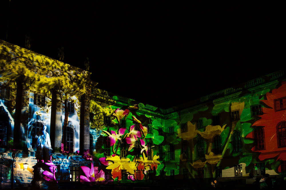 berlin, festival of lights, dark, night, event, autumn, humboldt university