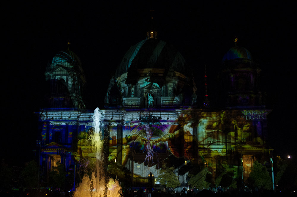 berlin, festival of lights, dark, night, event, autumn, berliner dom,,