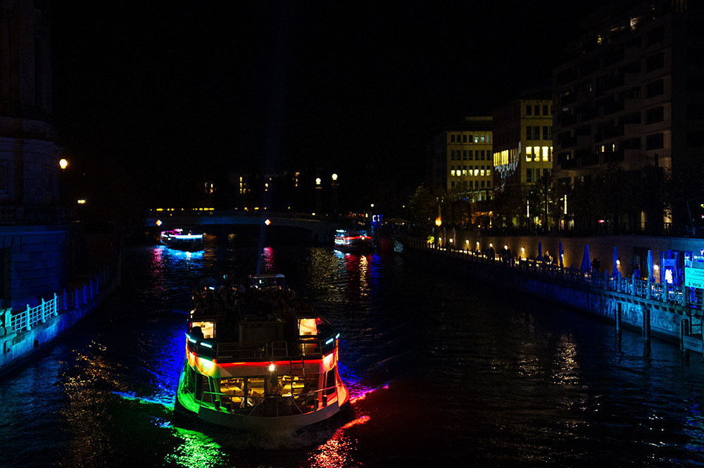 berlin, festival of lights, dark, night, event, autumn, berliner dom,, spree