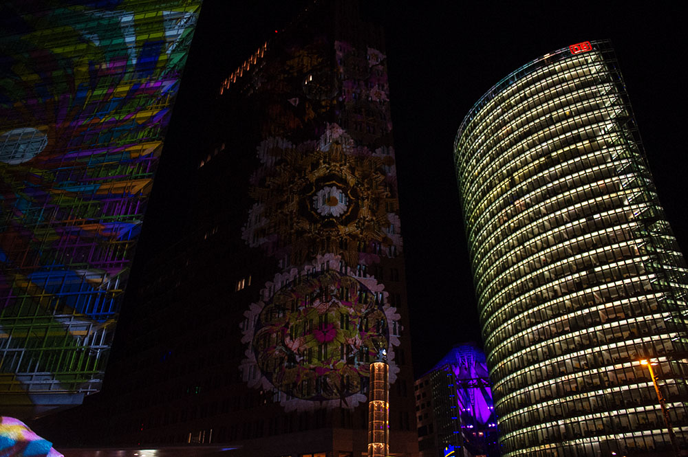 berlin, festival of lights, dark, night, event, autumn, postdamer platz