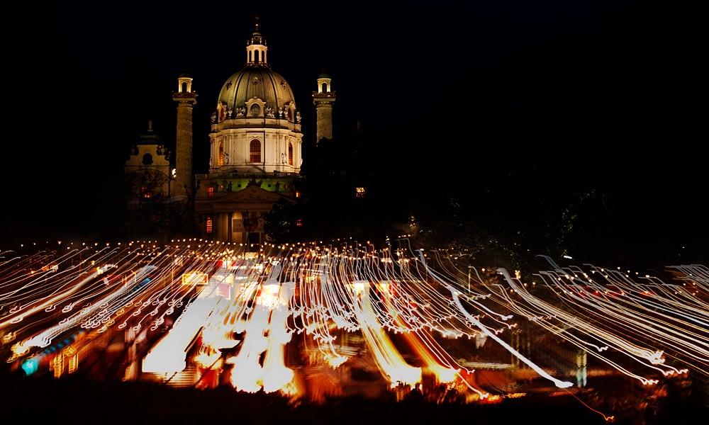 karlsplatz, advent, christkindlmarkt, lights, city lights