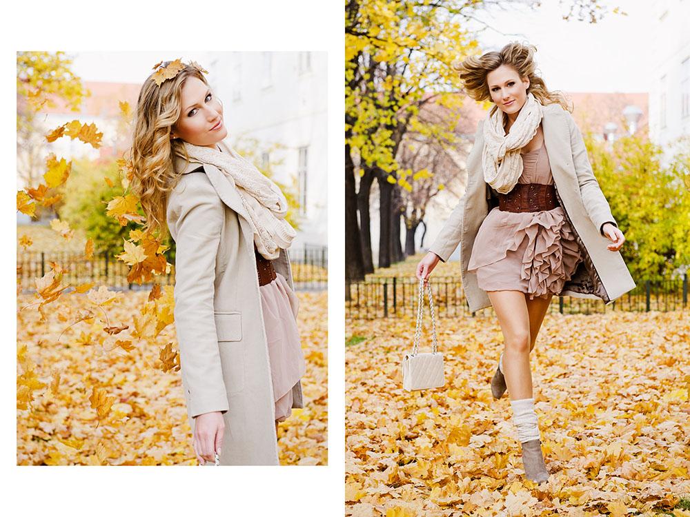 autumn, people, fun, dancing, leaves