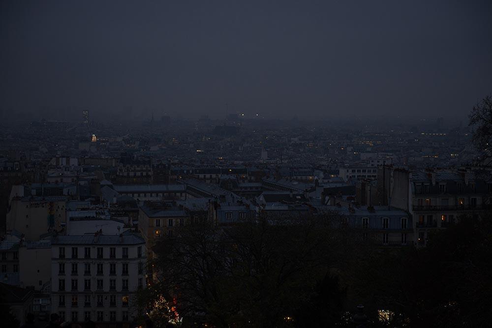 paris, montmatre, at night, lights, city, france,
