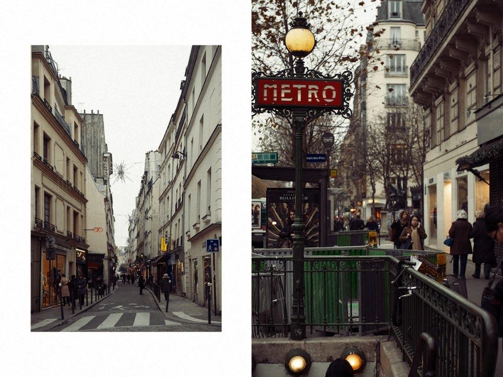 Paris, Quartier Latin, Metro, advent
