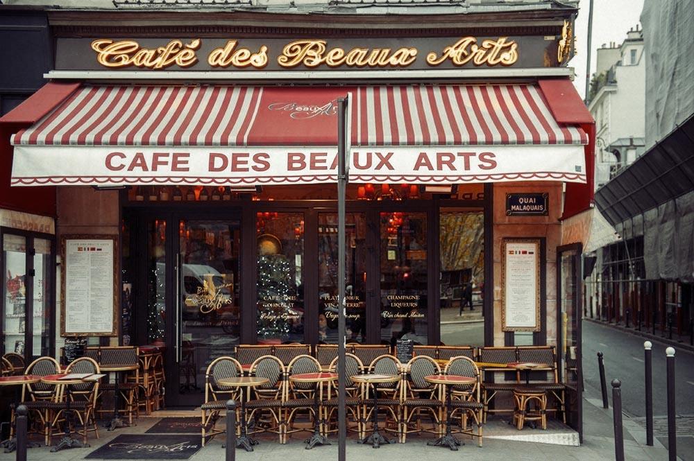 Paris, café, winter