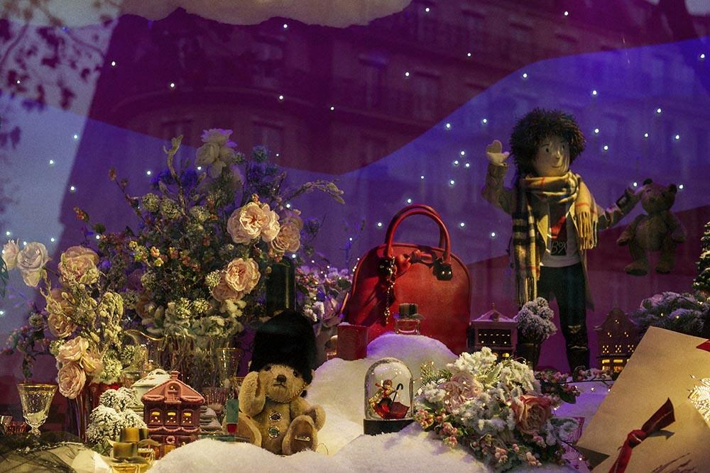 printemps, paris, burberry, christmas, windows, shopping, cute, fun, london