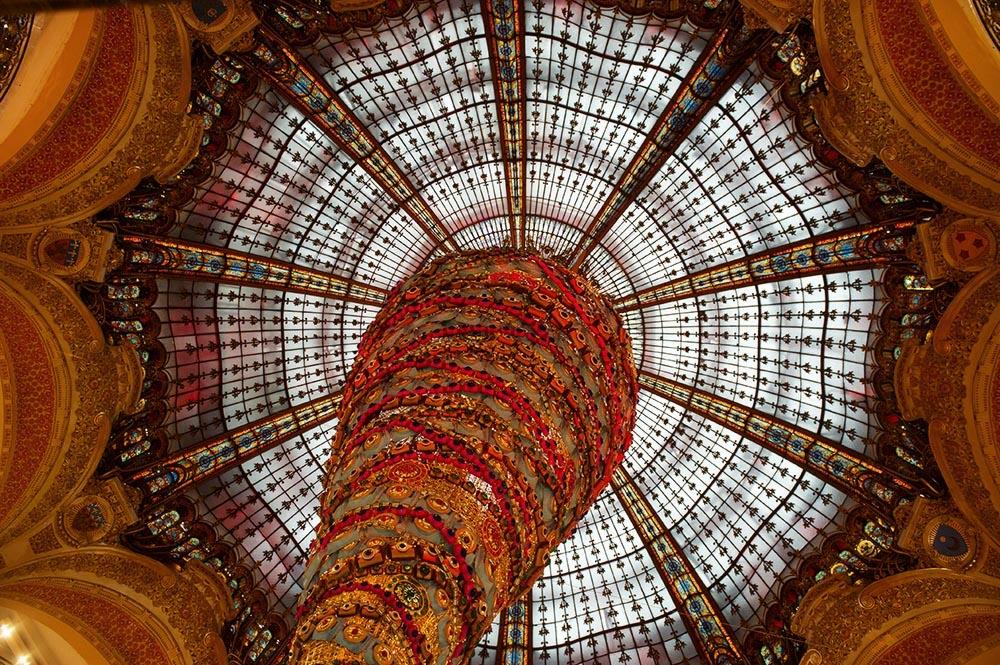 paris, galeries lafayette, dome