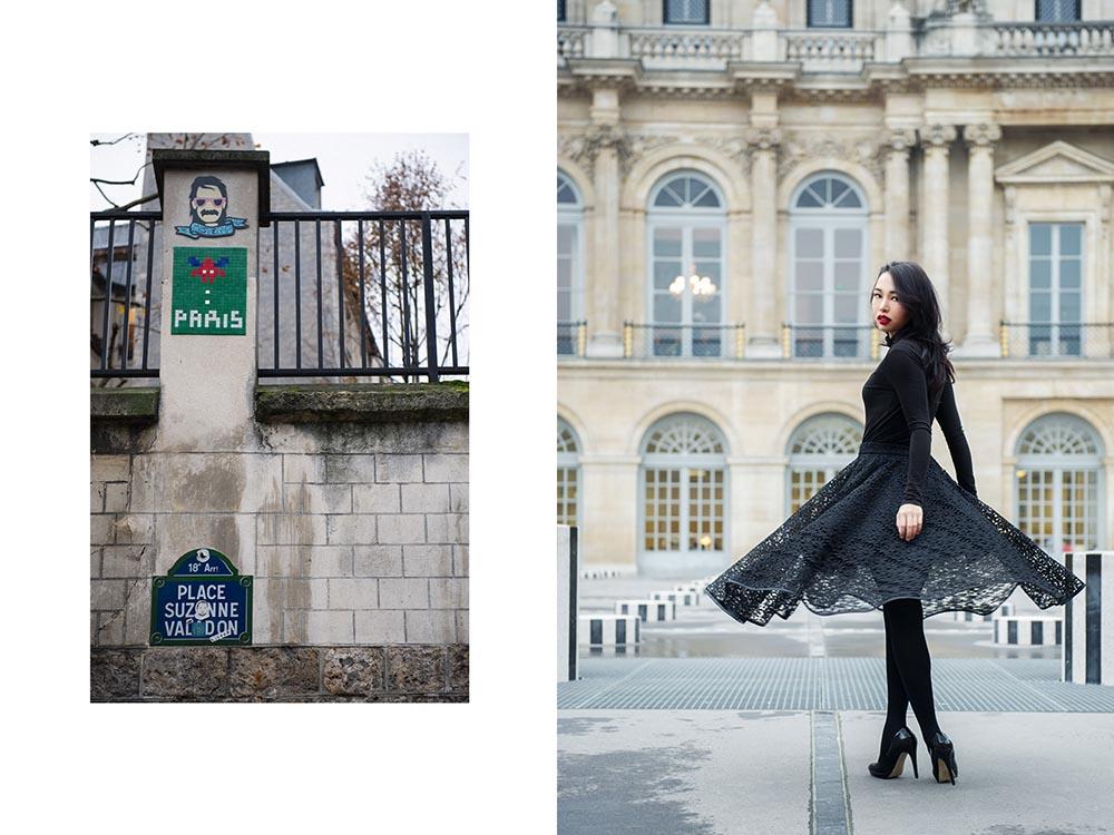 paris, palais royal, streetart, irina hofer, photography