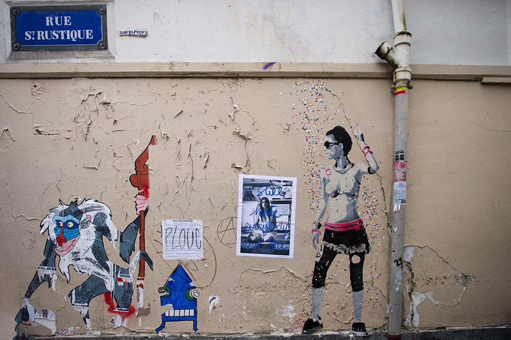 paris, montmatre, streetart
