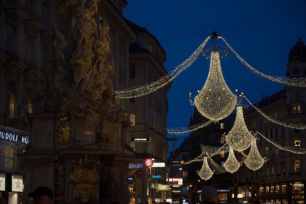 Vienna, X-Mas, Christmas, lights, advent, 1010, sunset, graben, kohlmarkt, stephansplatz