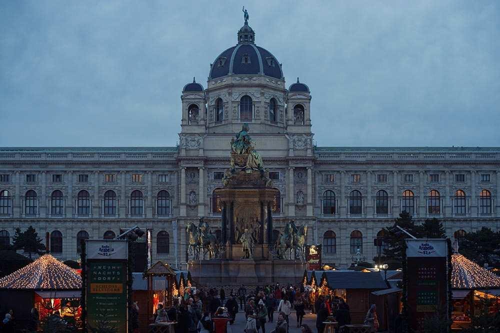 vienna, christmas, fair, lights, advent, 1010, maria therein platz, weihnachtsdorf