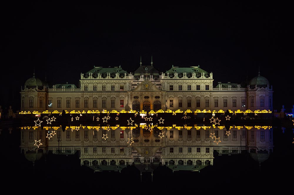 belvedere, xmas, advent, christmas lights, night