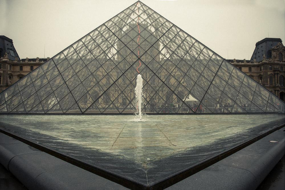 paris, winter, louvre
