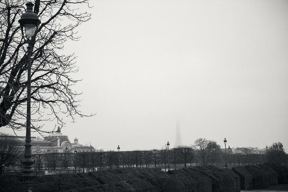 paris, winter, tour eiffel
