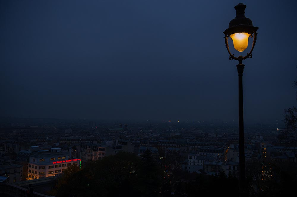 paris, night, lights montmatre