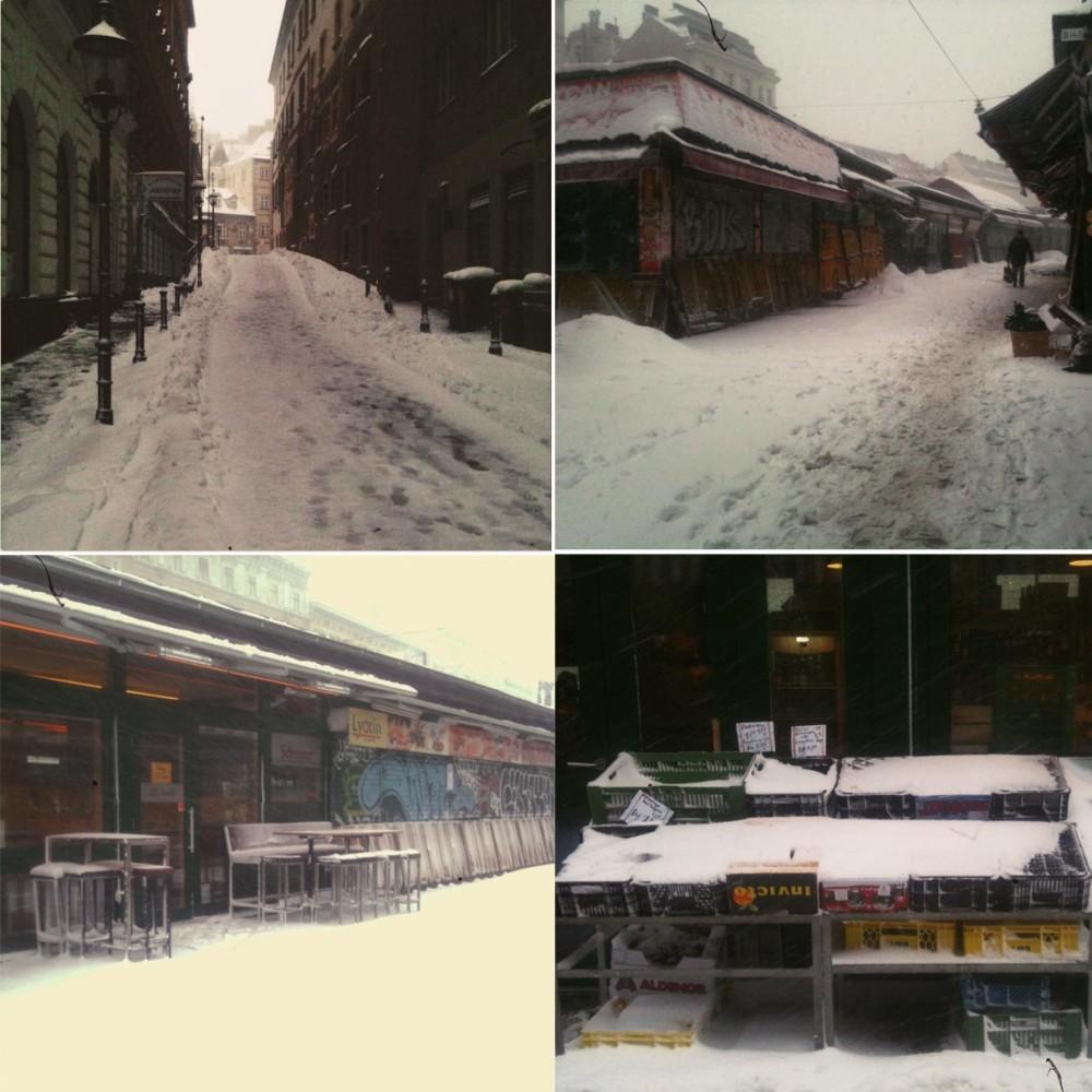 winter, snow, sturm, vienna, naschmarkt, griechengasse