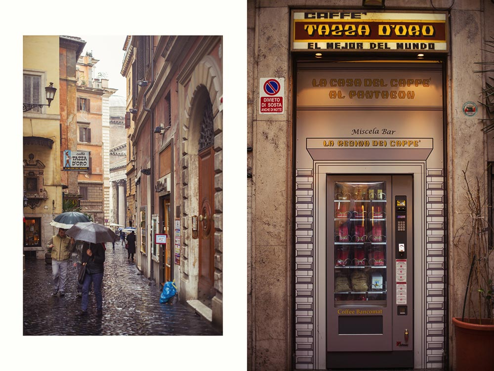 rome, italy, pantheon, coffee, automat, vending machine