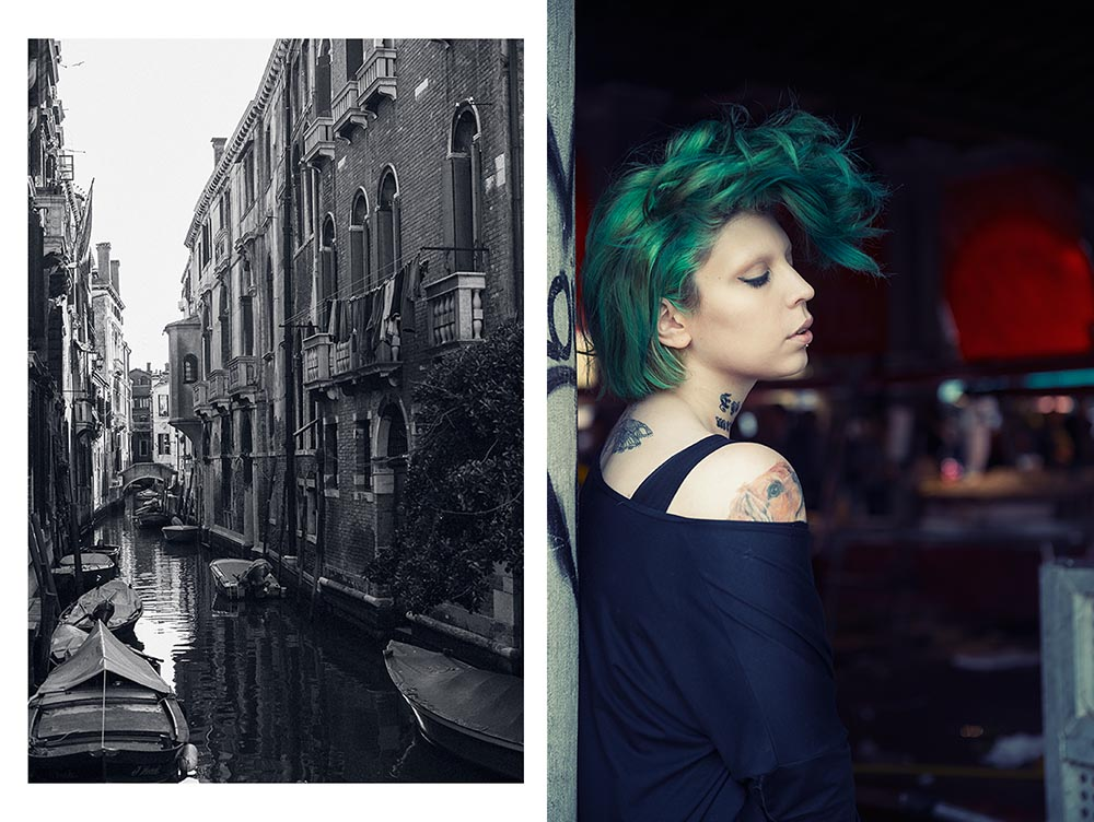 venezia, italy, spring, portrait, alternative model,green