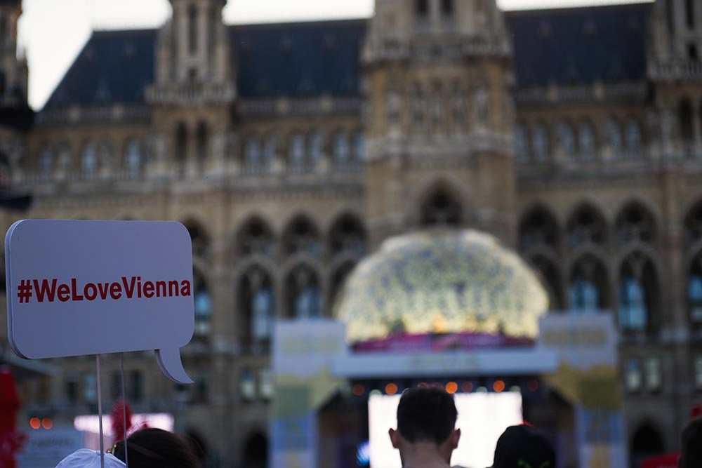 esc, vienna, eurovision village, rathausplatz, austria