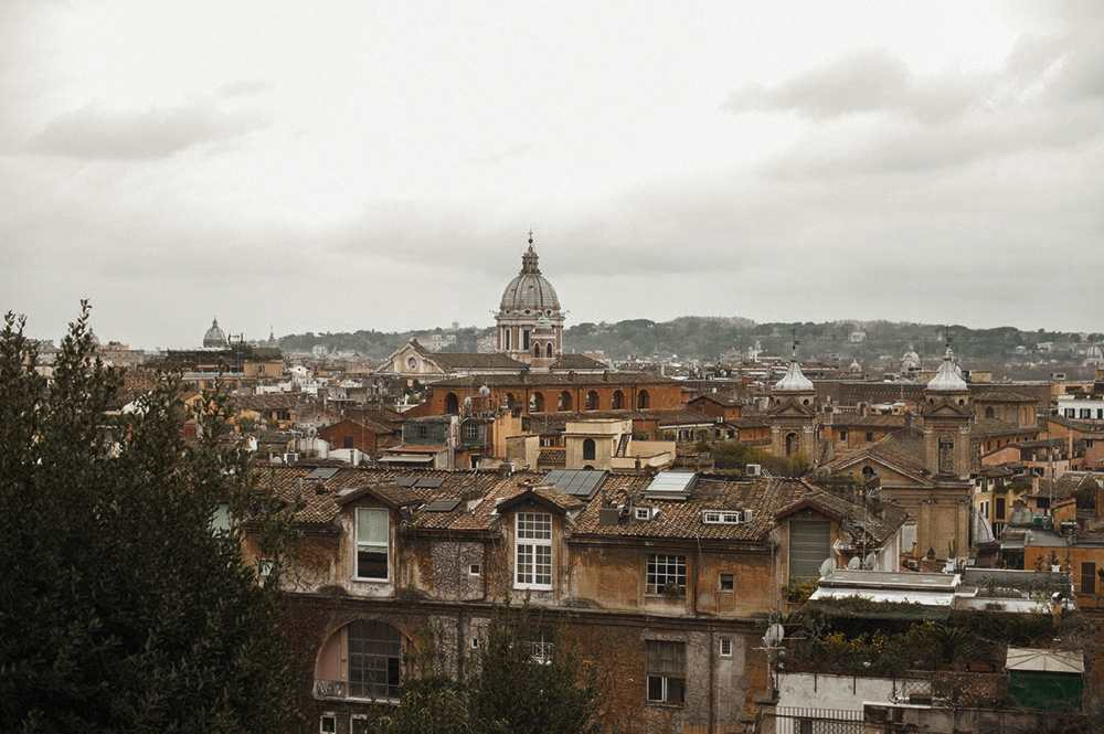 rome, pincio, from aboce, view, italy