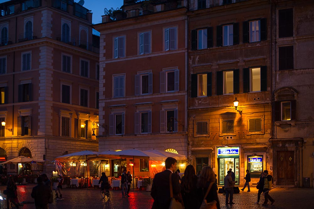 trastevere, roma, italy, sunset, night, nightlife, streets