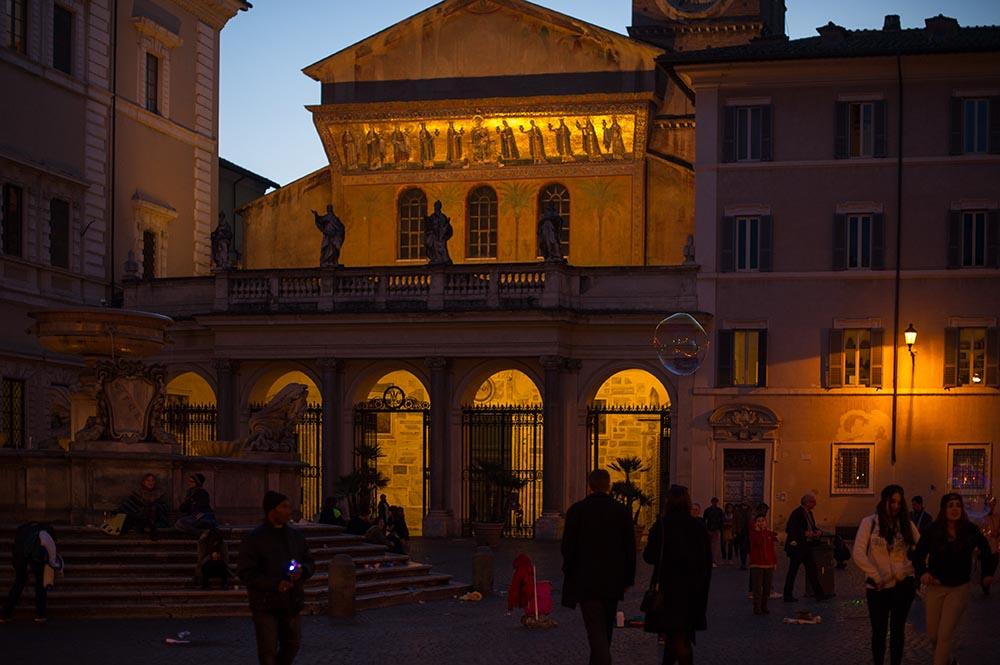 trastevere, roma, italy, sunset, night, nightlife, streets