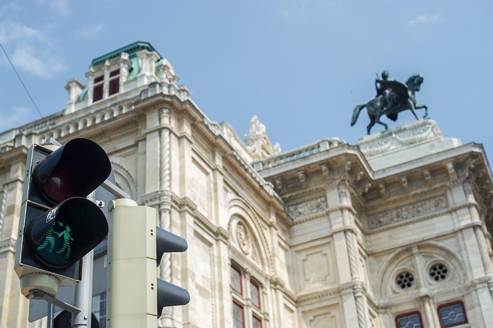 pedestrian traffic light, vienna, couple love, awareness, dürer, bunny, vienna opera