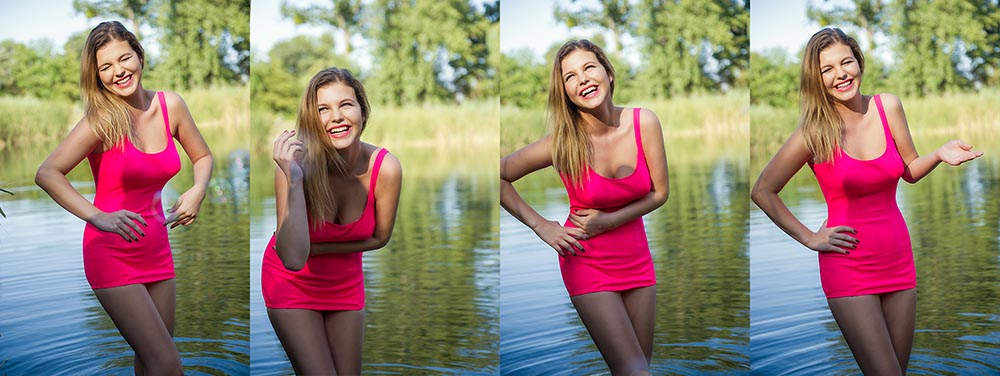laugh, smile, fun, pin up, girl, retro, vintage, teresa kodolitsch, ferman, summer, vienna, nature, water