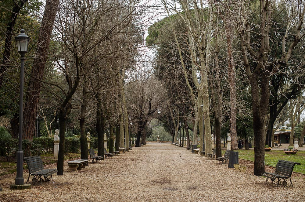 rome, italy, villa borghese