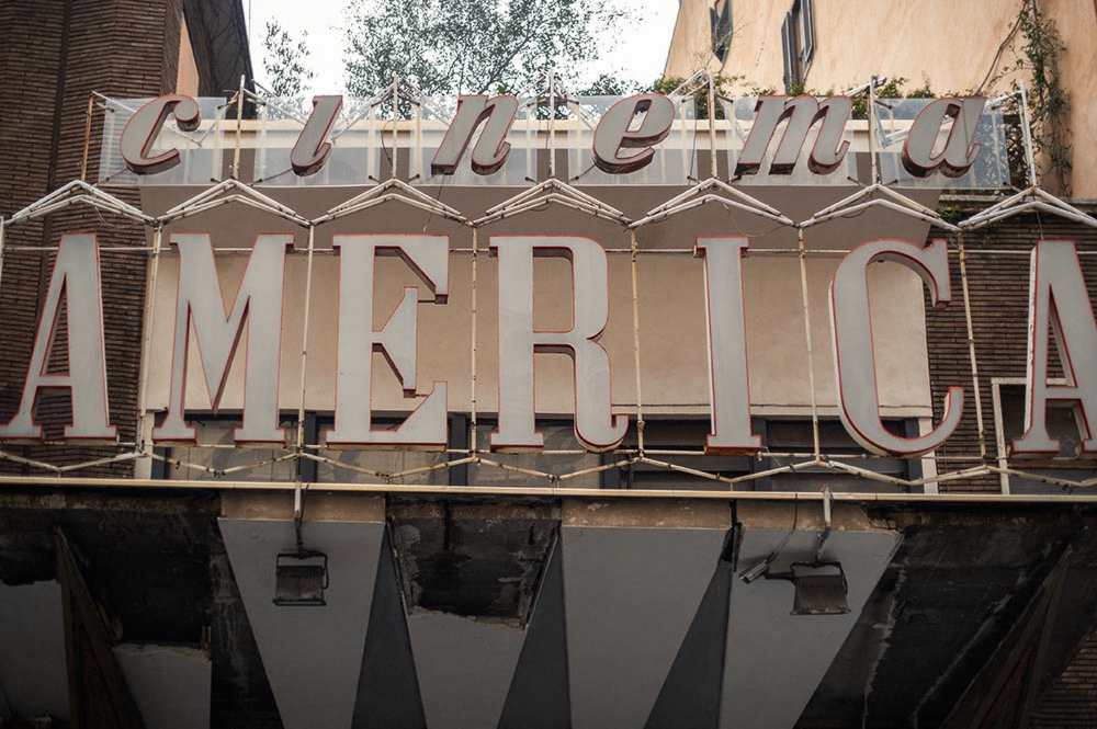 cinema america, rome, trastevere, italy, lost place, occupied, vintage