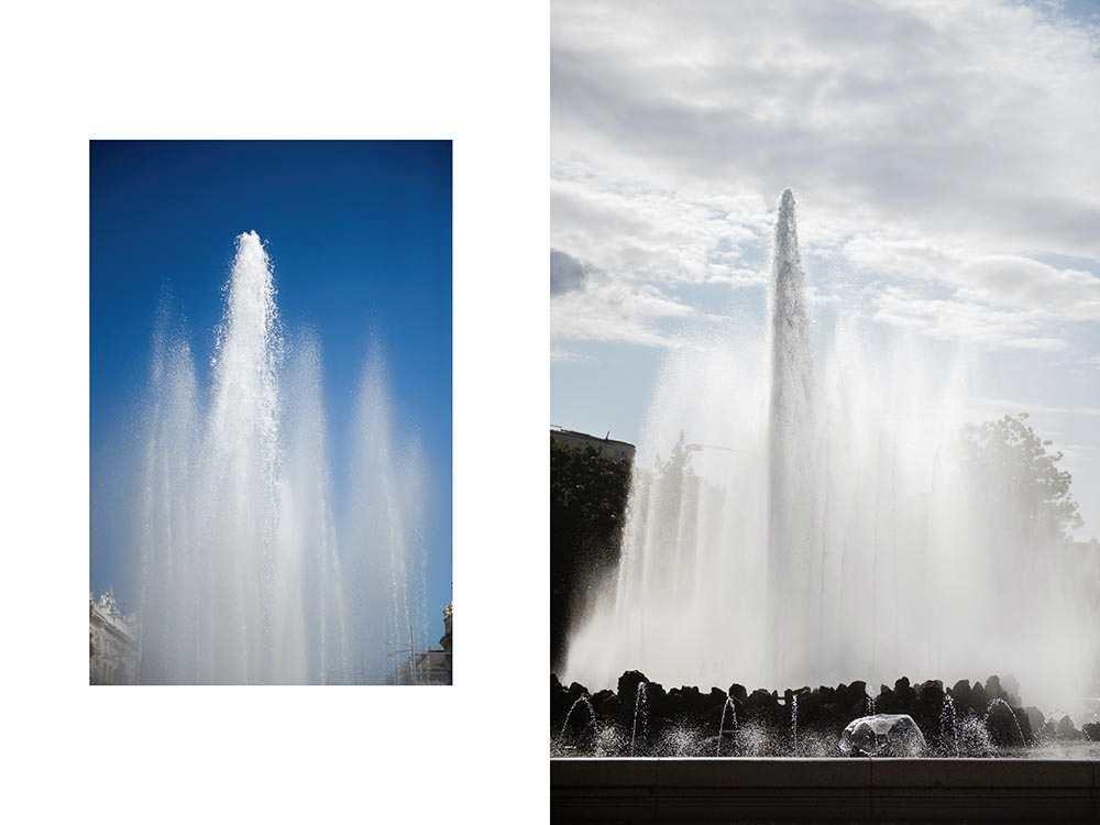 schwarzenbergplatz, hochstrahlbrunnen, vienna, austria. cool, summer, water