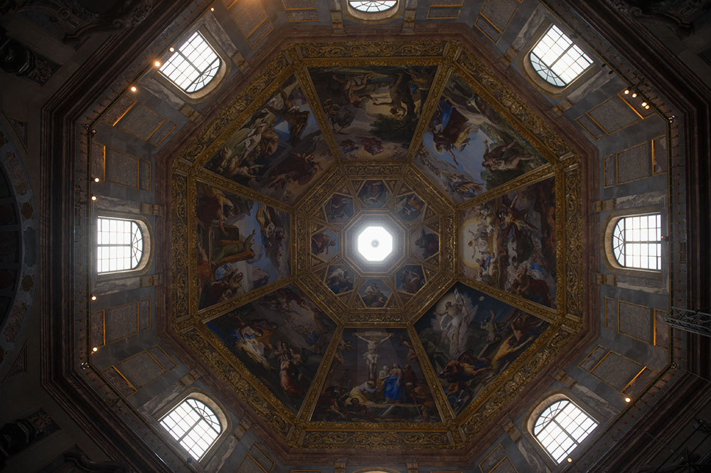 florence, italy, looking up, mediici, medicee, capelle, chapel