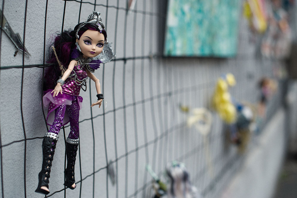 milan, wall of dools, barbie