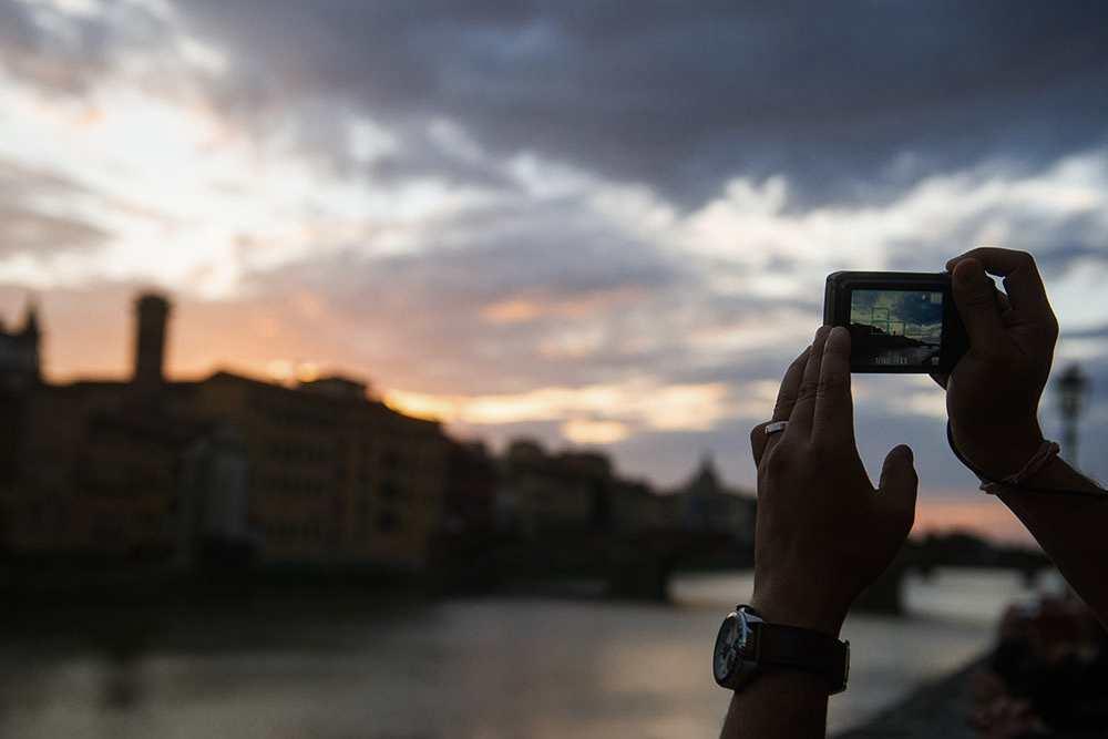 tuscany, arno, river, florence, bridges, autumn,