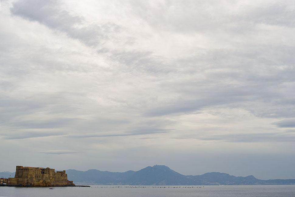 napoli, italy, lungomare, sea seaside, blue, endless, horizont