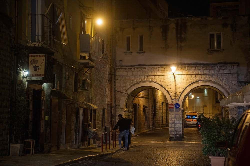 bari, old town, italy, basilikata, blue hour, lungomare, sea